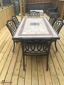 7 Piece Patio Table and Chairs