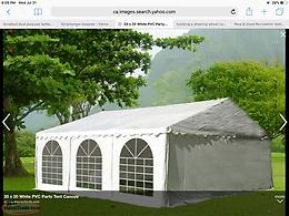 Wanted to rent 20'x20' party tent for September 14