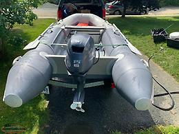 2018 Cap-it Waterline Adventure Inflatable Boat, Motor, And Trailer