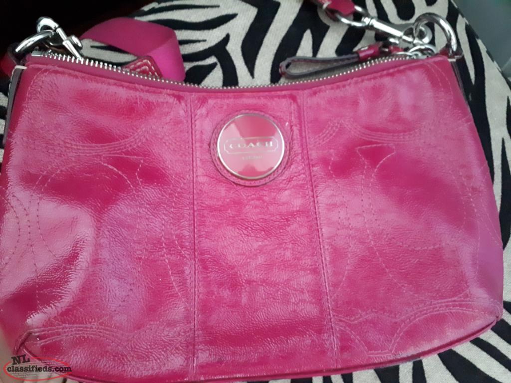 latest trends wholesale price exquisite craftsmanship Authentic Hot Pink Coach Purse
