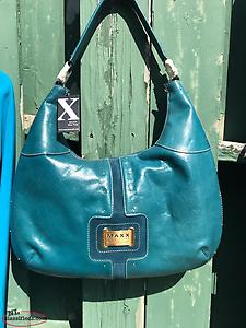 New With Tags Leather Maxx Studio Teal Purse