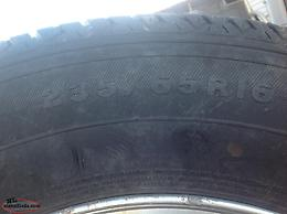 Four Tires on aluminum rims complete with sensors.235/65/16s