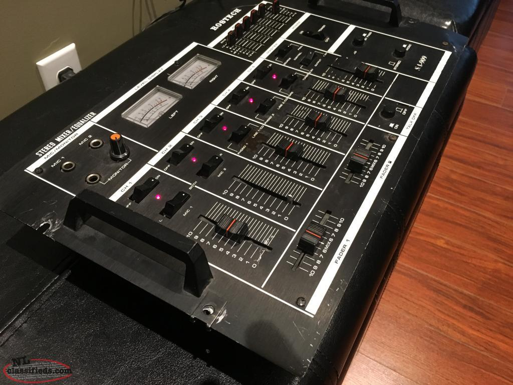 Vintage Rostech 5 Channel Mixer/Equalizer