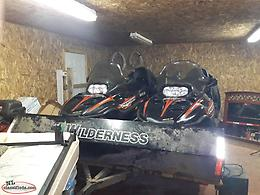 2 snowmobiles and trailer for sale