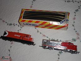 2 vintage toy train locomotive's and tracks