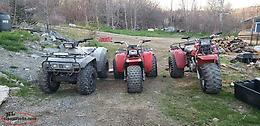 4x4 350 fourtrax and Trikes