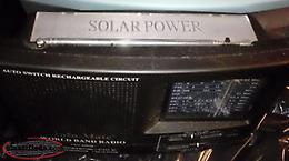 Solar & Hand Crank Powered Multi-Band AM/FM/4 SW bands/Weather band/Air band