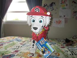 2 PAW PATROL PINATAS, CHASE AND MARSHAL, FILL WITH TREATS &TOYS $10.EA.