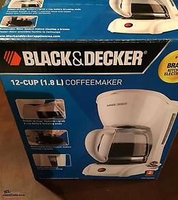 Coffeemaker, new, Black & Decker