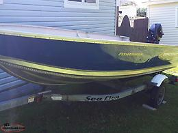 Princecraft aluminum boat, motor and trailer