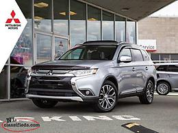 2016 Mitsubishi Outlander GT S-AWC - $219 B/w Taxes In!