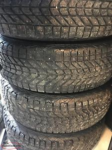DEAL!!! 4 Winter Tires Studded and Rims 215-70-16 MUST SELL!!!