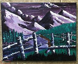 Acrylic painting local artist,original on stretched canvas. ready to hang