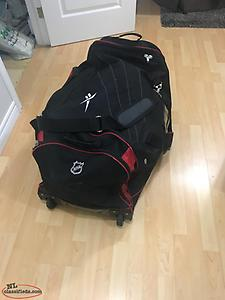 Hockey bag on wheels,equipment including skates- sold individually or together