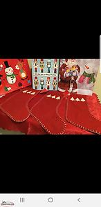 Christmas tree skirt and stockings