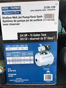 Shallow Well Jet Pump with Tank System