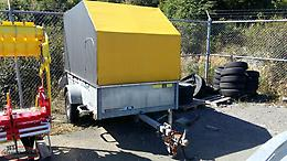 Used 2005 Maxi-Roule Galvanized Utility Trailer 51 x 99 with Canvas Enclosure