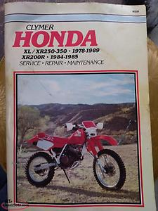 XR 200 250 350 repair manual
