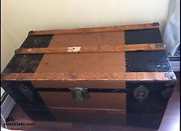 Vintage Wood & Metal Trunk