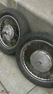 2 MOTORCYCLE TIRES...100/90-18 56H AND 120/90-16 63H