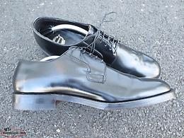 Florsheim 77513 Black Plain Toe Blucher in Size 11.5E - Made in Canada!