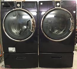 (Price reduction) Washer and dryer c/w pedestals