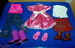 "Dolls Clothes, Boots, etc for your 18"" Doll"