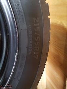 215/55/R17 Winter Edge Tires and Steel Wheels
