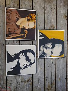 Three Musician Numbered Wood Hanging Prints