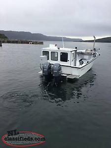New Sea Serpent 28' Long X 11' Wide V Bottom Fishing Boat