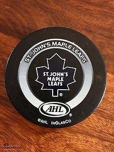 St. John's Maple Leafs Official Hockey Puck
