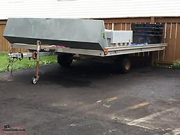 Double snowmobile trailer