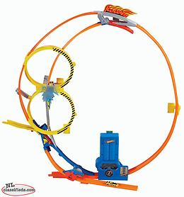 Hot wheels super loop chase dinky race track