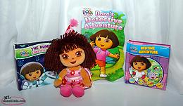 Dora the Explorer Ty Birthday Plush Doll and Board Books