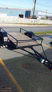 Homemade 4' x 7'. Well built . Has leaf springs and working lights