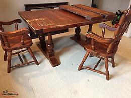 Solid wood dining table and hutch reduced price