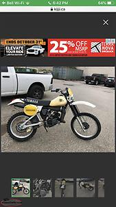 Looking for early 80s dirt bike