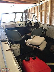 16' FIBERGLASS BOAT with HONDA 40hp motor