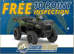 FREE 10 Point ATV Inspection at Coastal Outdoors!