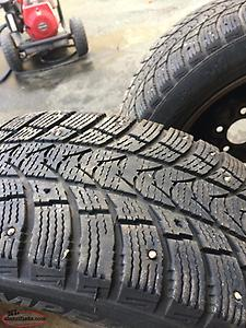 Rims with 205/55 R16 studded tires