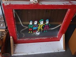 newfoundland mummers painted old window
