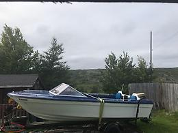 17ft Boat 65 Johnson And Trailer