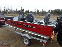 LUND Boat motor and trailer package