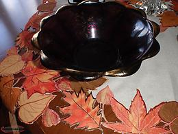 very old and rare Amethyst bowl and dish set