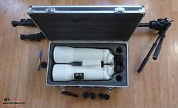Garrett optical binoculars and tripod