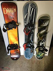 3 Snowboards For Sale