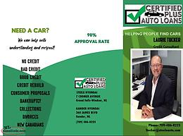 USED VEHICLES Introducing Certified Plus AUTO Loans.