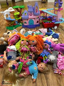 Assortment Of Dolls, Doll Clothing And Play sets