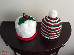 Hand Knit Pompom Hats and more....
