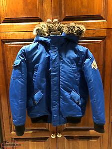 beaver canoe boys down filled bomber jacket size M